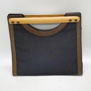 Tommy Bahama Wood & Cloth Clutch Purse
